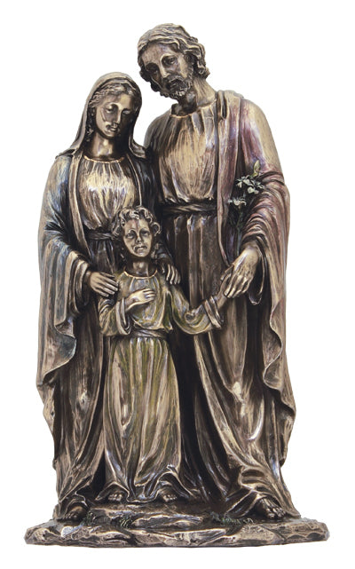 Holy Family 1Pclightly Hand-Painted Cold Cast Bronze 5X10-inch