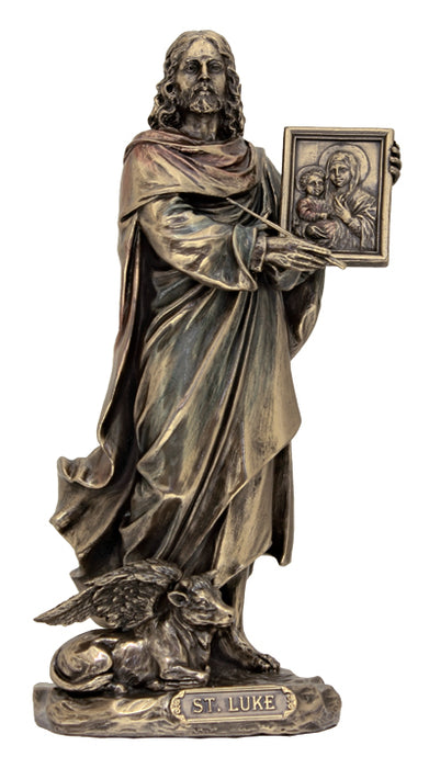 Saint Lukelightly Hand-Painted Cold Cast Bronze 8-inch