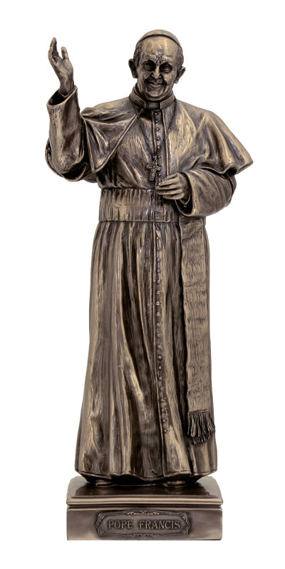 Pope Francis-Cold Cast Bronze 11-inch