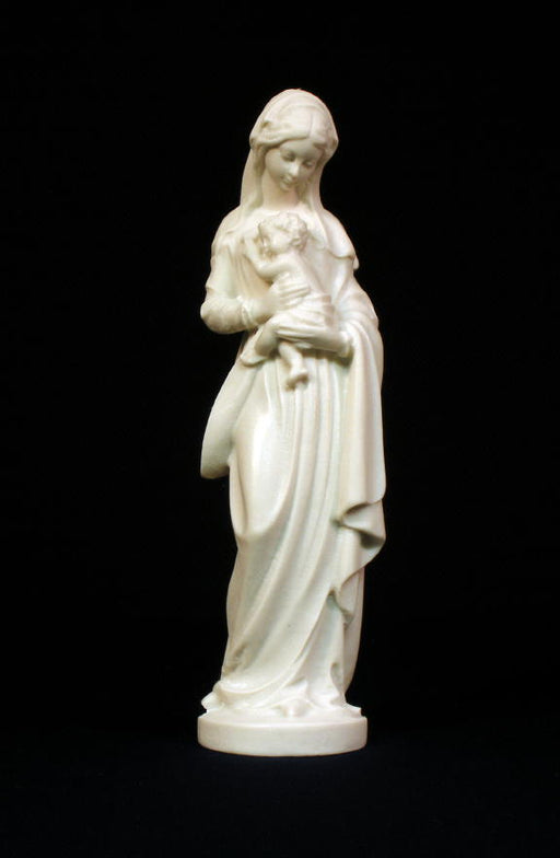 Standing Madonna And Child White 5-inch