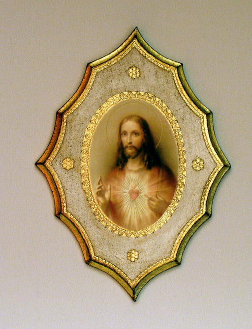 Sacred Heart Of Jesus Florentine Plaque 7.5X10-inch
