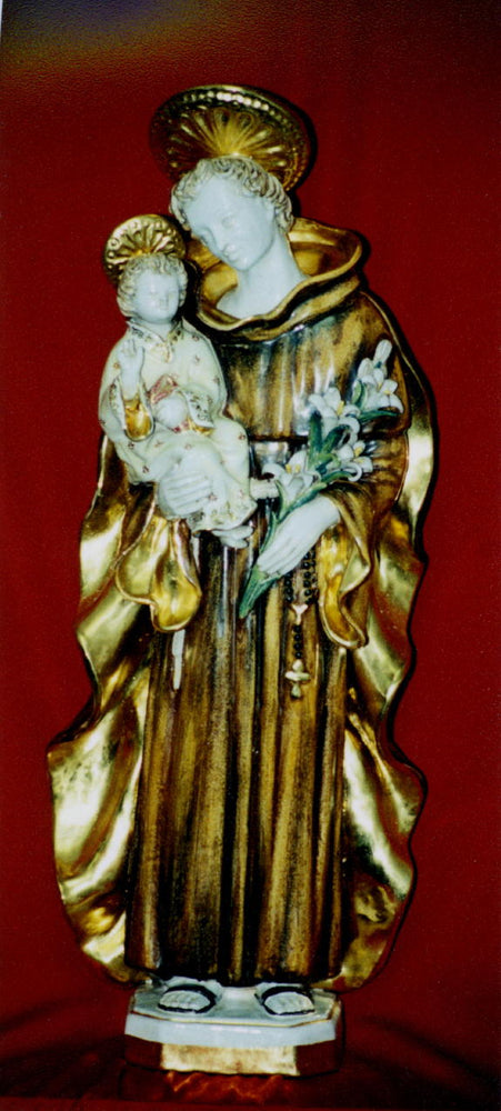 Saint Anthony And Child Hand-Painted Ceramic 25-inch