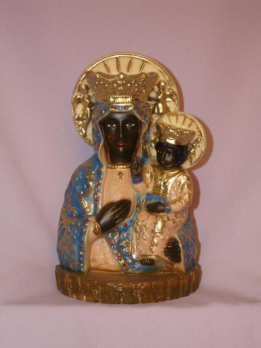 Our Lady Of Czestochowa Hand-Painted Alabaster 7.75-inch