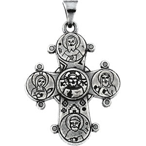 14K White Gold Dagmar Cross Pendant