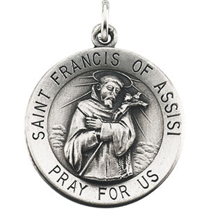 14K Yellow Gold Saint Francis Of Assisi Pendant
