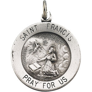 14K Yellow Gold Saint Francis Pendant