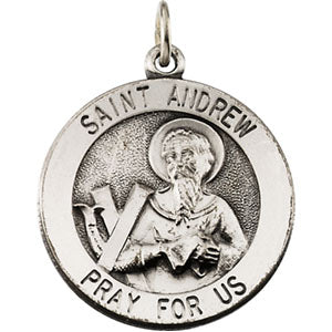 14K Yellow Gold Saint Andrew Pendant