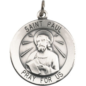 14K Yellow Gold Saint Paul The Apostle Pendant