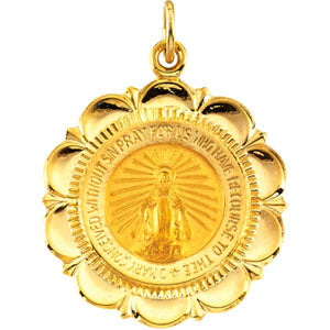 14K Yellow Gold Miraculous Medal