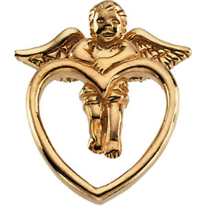 14K Gold Angel Lapel Pin