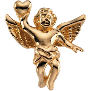18K Yellow Angel Lapel Pin