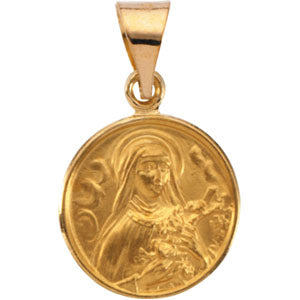 18K Yellow Saint Theresa Pendant