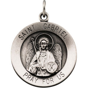 14K Yellow Gold Saint Gabriel Pendant