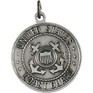 Sterling Silver Saint Christopher/Us Coast Guard Necklace Set