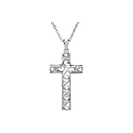 Sterling Silver The Way Cross Necklace Necklace Set