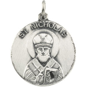 14K Yellow Gold Saint Nicholas Pendant