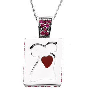 Sterling Silver Go Red American Heart Associat