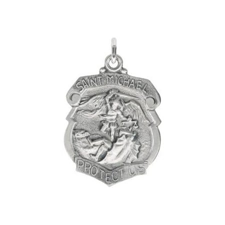 Sterling Silver Saint Michael Pendant with Out Chain