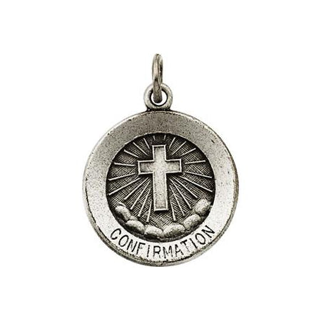 Sterling Silver Confirmation Pendant with Cross Necklace Set