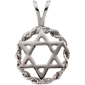 10K Yellow Star Of David Pendant