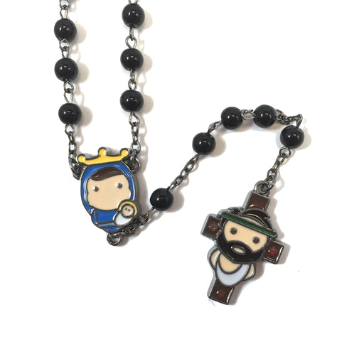 Tiny Saint s Black Rosary