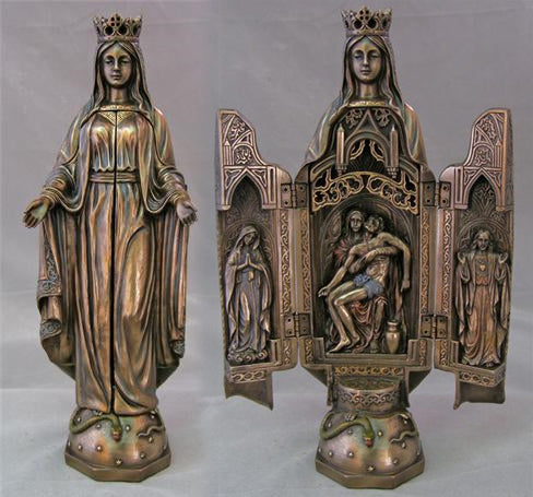 Our Lady Of Sorrows 11-inch Statue Triptych