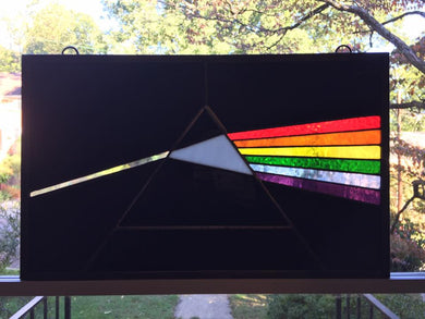 Dark Side of the Moon Stained Glass