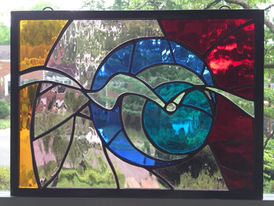 Time Traveler Abstract Stained Glass
