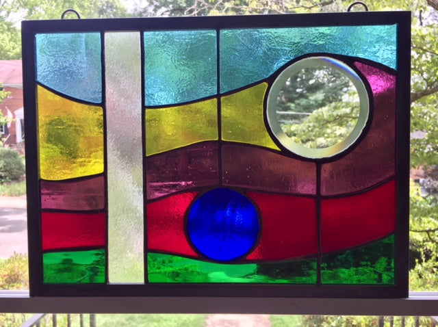 Summer Breeze Abstract Stained Glass