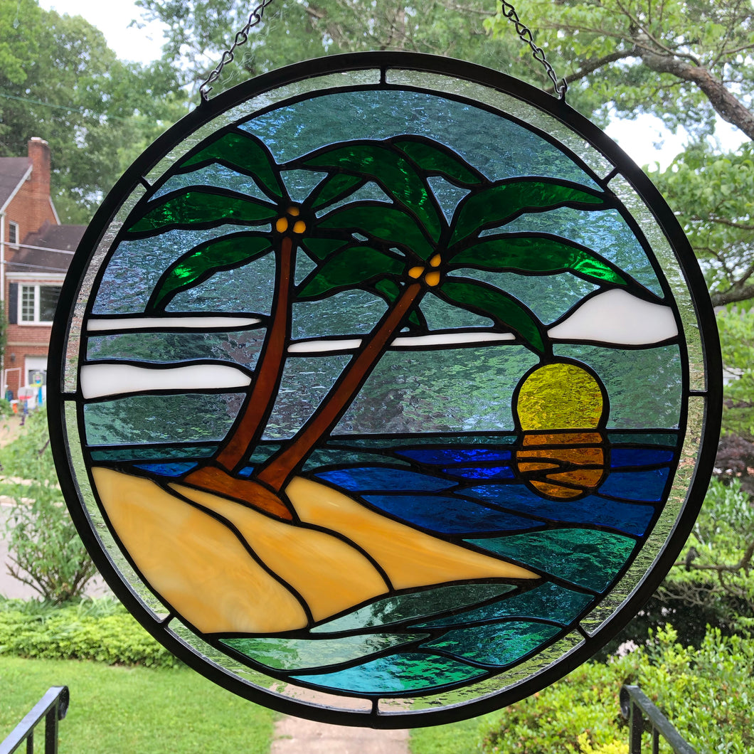 5 o'clock Somewhere Stained Glass
