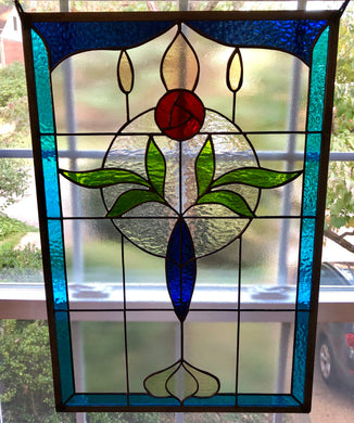 Edwardian Floral Stained Glass
