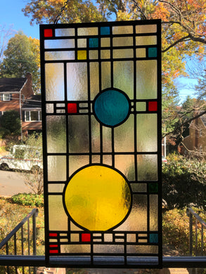 Mid-Century Contemporary Stained Glass