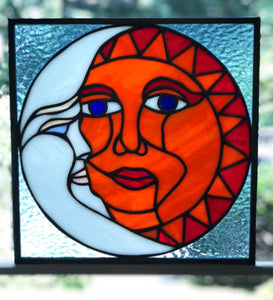 Equinox (Sun and Moon) Stained Glass