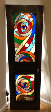 Artemis Stained Glass Door
