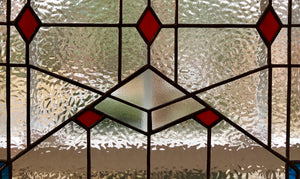1920s Art Deco Style Stained Glass
