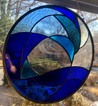 Azure Stained Glass Piece