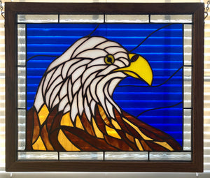 Bald Eagle Stained Glass Panel