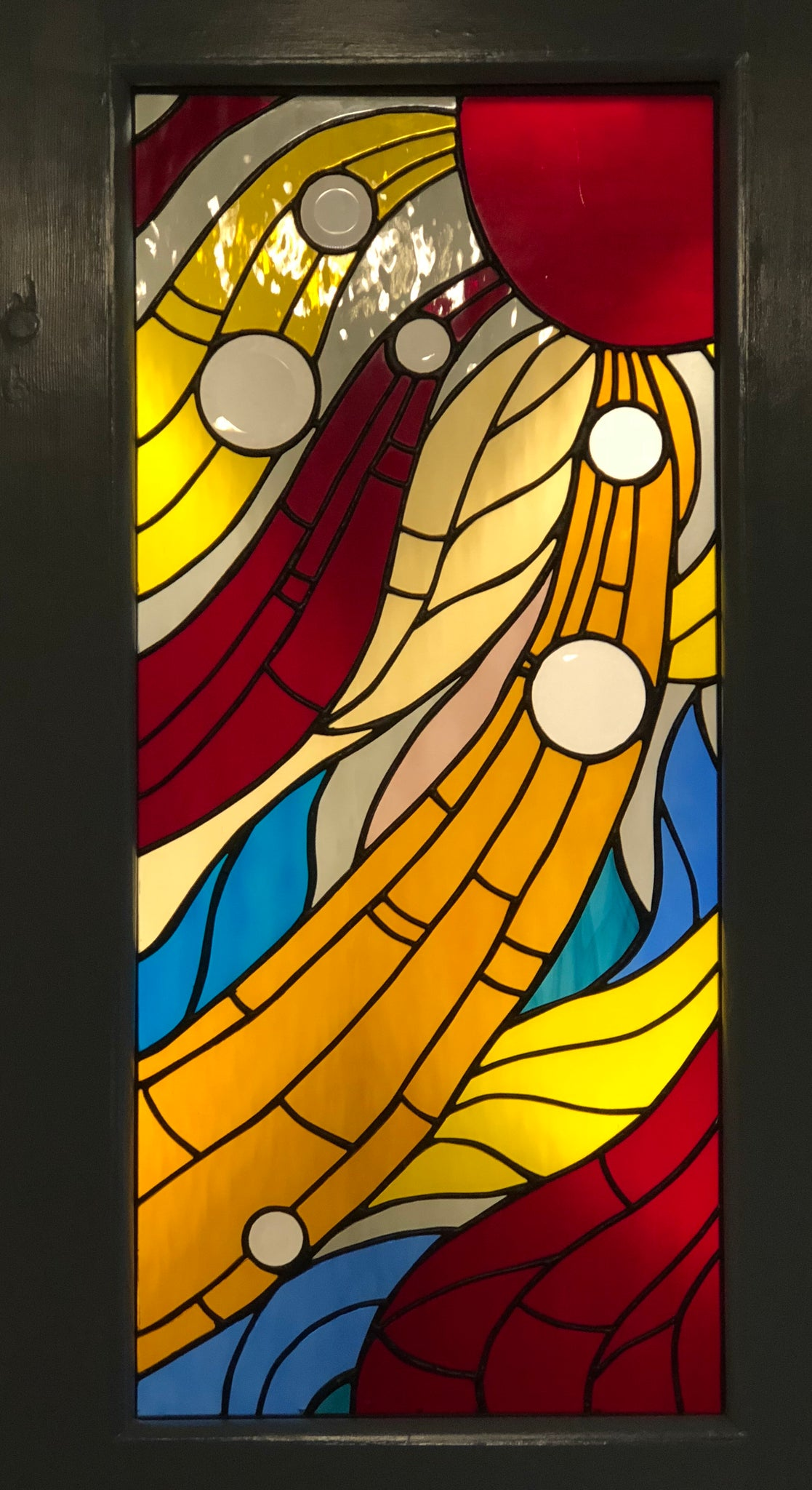 Spectacle of Light Stained Glass Door – Stained Glass by Kib, LLC