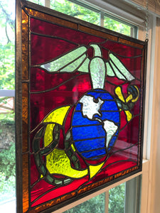 United States Marine Corps Stained Glass