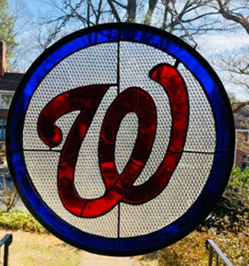 Washington Nationals Stained Glass
