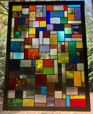 Enigma Stained Glass Panel
