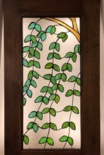 Weeping Cherry Tree Stained Glass Door