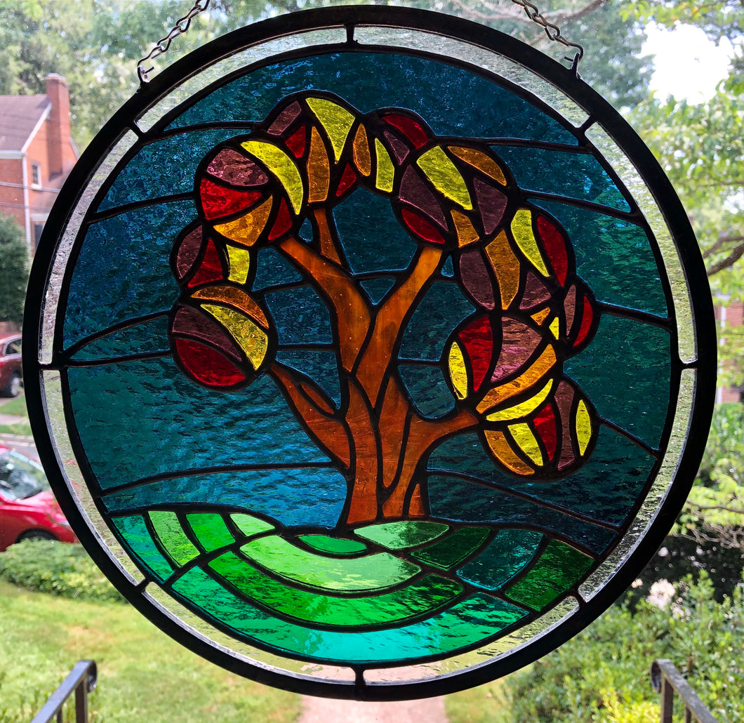 Autumn Night Stained Glass