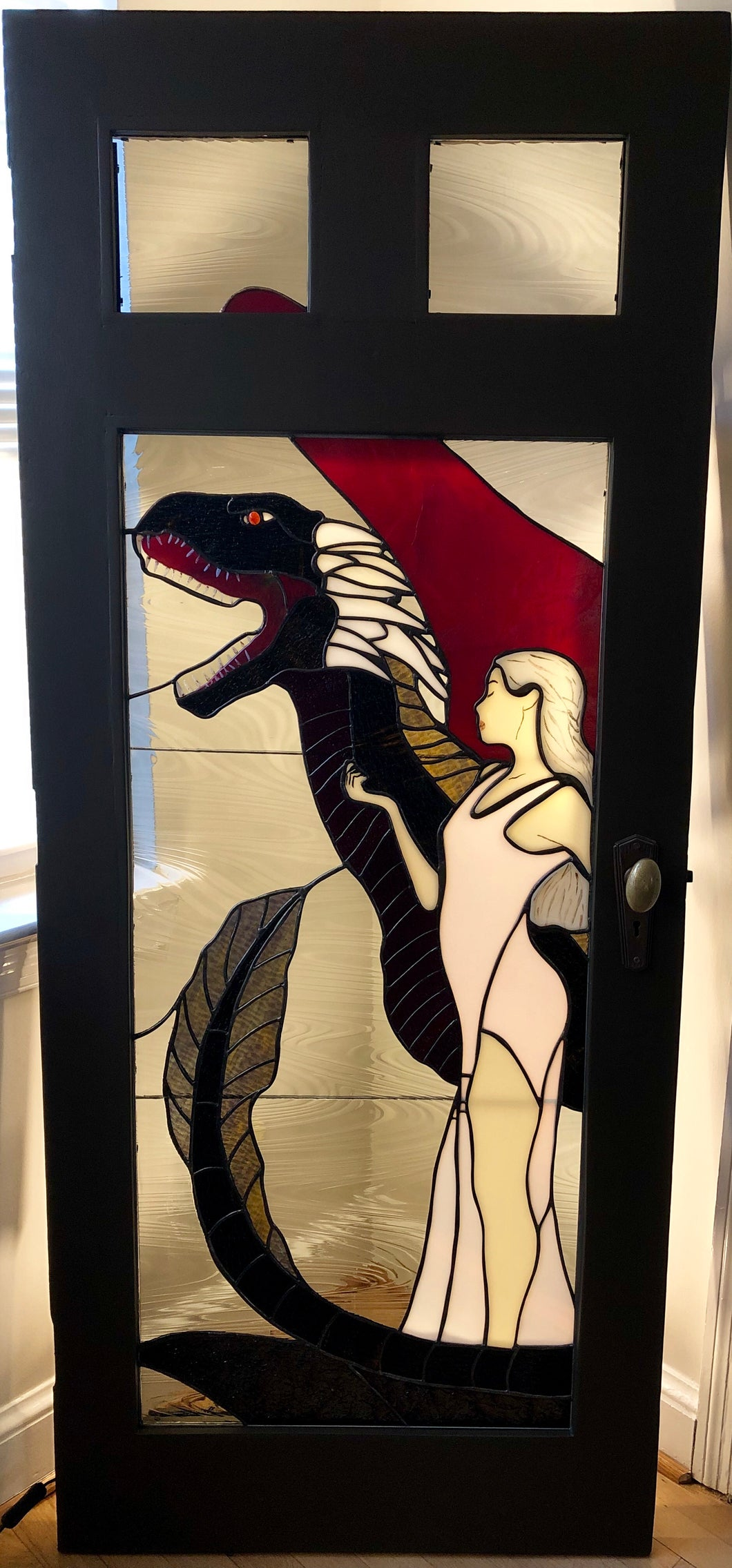 Mother of Dragons Stained Glass Door