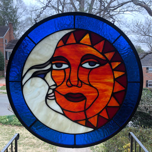Equinox Round Stained Glass