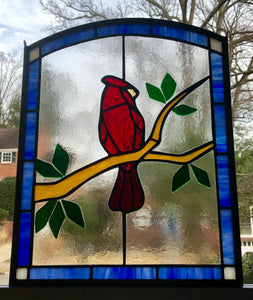 Cardinal Stained Glass Piece