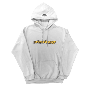 PSYCHO FLAMES HOODIE // WHITE