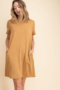 Make a Promise Golden Poppy T-Shirt Dress