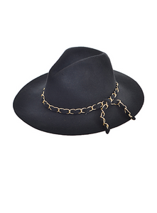 Cover it Up Chain Embellished Hat