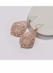 Full of Love and Rose Gold Statement Earrings